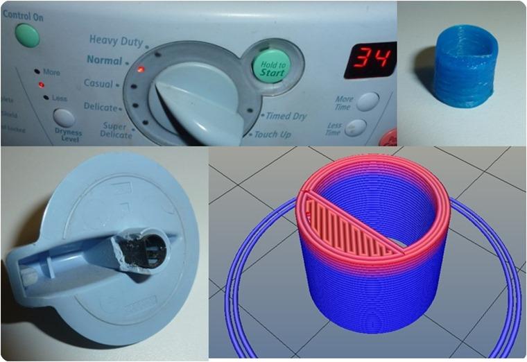 Dryer Knob Repair With 3D Printer