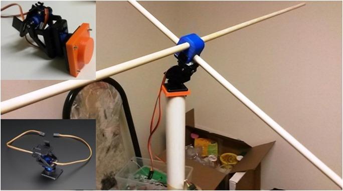antenna pan tilt rotor