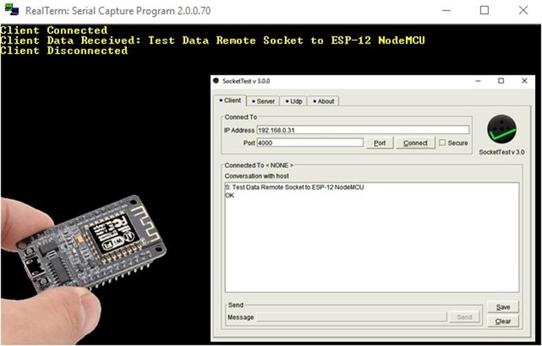 simple NodeMCU Client Server